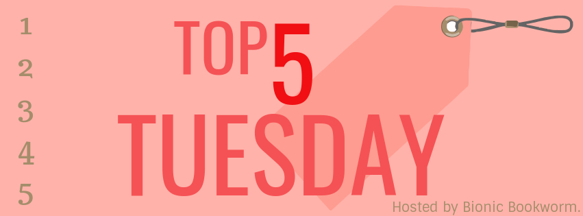 Top 5 Tuesday: 📚 Book Spines